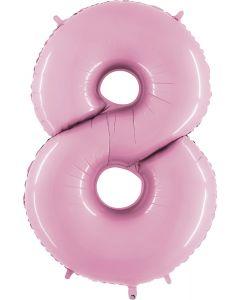 8 Pastel Pink Folienzahlen 14in/36cm