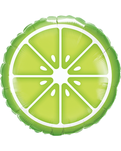 Sliced Lime Folienform Rund 18in/45cm