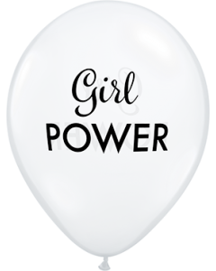 Simply Girl Power Diamond Clear Latexballon Rund 11in/27.5cm
