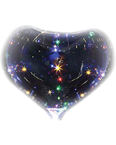Globus/Bobo Balloon Clear (Transparent) Herz 18in/45cm