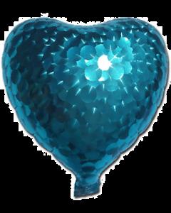 Blue Jewelry Holographische Folienform Herz 7in/17.5cm