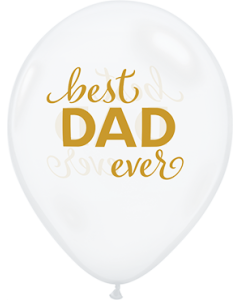 Simply Best Dad Ever Crystal Diamond Clear Latexballon Rund 11in/27.5cm