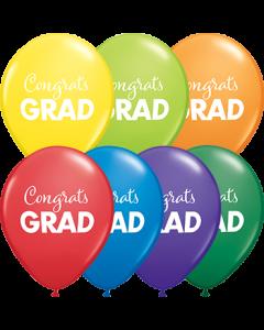 Simply Congrats Grad Carnival Sortiment Latexballon Rund 11in/27.5cm