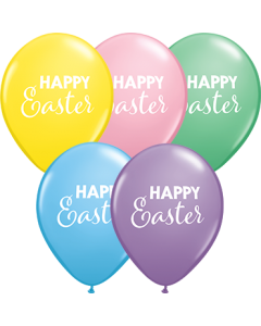 Simply Happy Easter Pastel Sortiment Latexballon Rund 11in/27.5cm