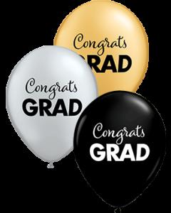 Simply Congrats Grad Special Sortiment Latexballon Rund 11in/27.5cm