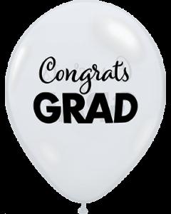 Simply Congrats Grad Crystal Diamond Clear Latexballon Rund 11in/27.5cm