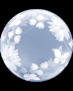 Deco Bubble Butterflies und Flowers 20in/50cm