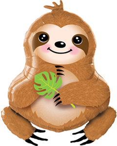 Sweet Sloth Folienfiguren 39in/99cm