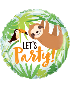 Let's Party Toucan & Sloth Folienform Rund 18in/45cm