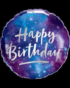 Birthday Galaxy Folienform Rund 18in/45cm
