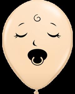 Sleeping Pacifier Baby Face Fashion Blush Latexballon Rund 5in/12.5cm