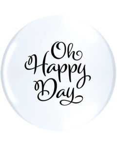 Simply Oh Happy Day ACHTUNG!!! TOPPRINT Standard White Latex Rund 11in/27.5cm