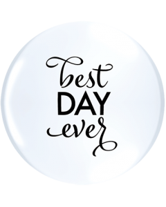 Simply Best Day Ever ACHTUNG!!! TOPPRINT Standard White Latex Rund 11in/27.5cm