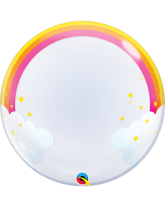Rainbow Clouds Deco Bubble 24in/60cm