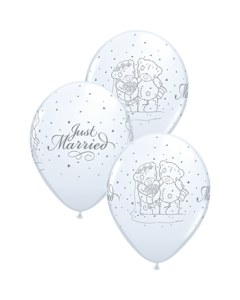 Me To You - Tatty Teddy Just Married Standard White Latexballon Rund 11in/27.5cm