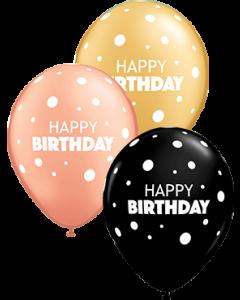 Birthday Big & Little Dots Special Sortiment Latexballon Rund 11in/27.5cm