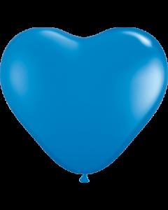Standard Dark Blue Latexherzen 6in/15cm