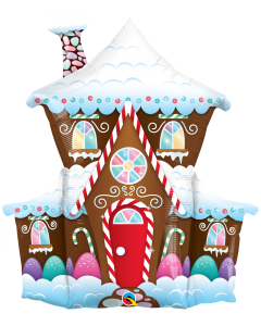 Decorated Gingerbread House Folienfiguren 37in/94cm