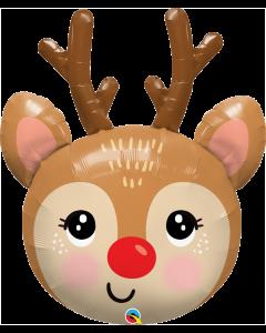 Red-Nosed Reindeer Folienfiguren 35in/88cm