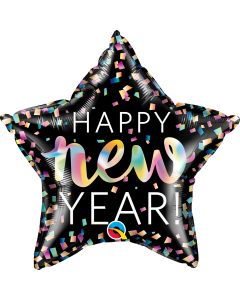 New Year Iridescent Folienform Stern 20in/50cm