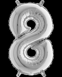 8 Silver Folienzahlen 26in/66cm