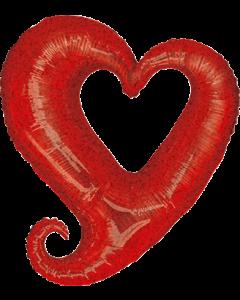 Chain of Hearts Holographische Red Folienfiguren 14in/36cm