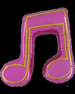Music Note Double Holographische Pink Folienfiguren 40in/86cm