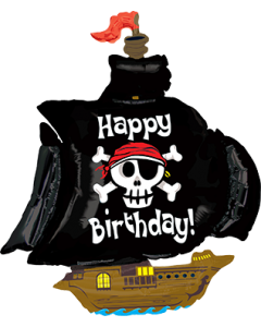 Pirate Ship Birthday Folienfiguren 46in/117cm