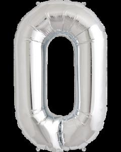 0 Silver Folienzahlen 7in/18cm