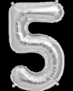 5 Silver Folienzahlen 7in/18cm