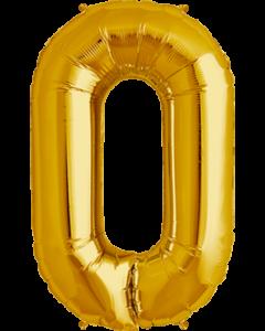 0 Gold Folienzahlen 7in/18cm
