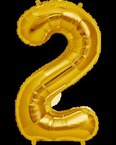 2 Gold Folienzahlen 7in/18cm