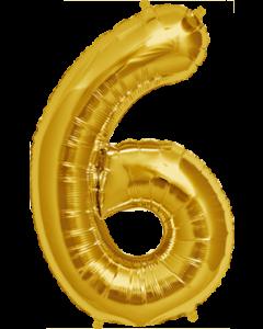 6 Gold Folienzahlen 7in/18cm