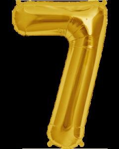 7 Gold Folienzahlen 7in/18cm
