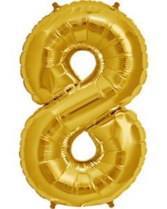 8 Gold Folienzahlen 7in/18cm