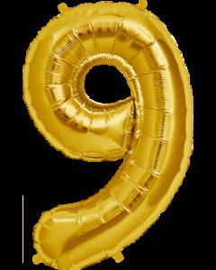 9 Gold Folienzahlen 7in/18cm