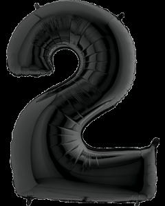 2 Black Folienzahlen 26in/66cm