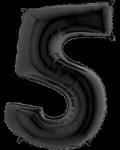 5 Black Folienzahlen 26in/66cm