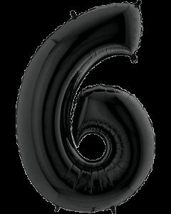 6 Black Folienzahlen 26in/66cm