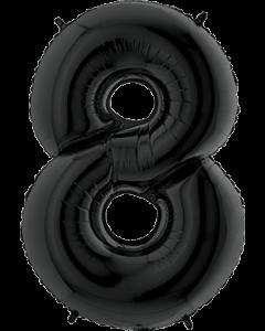8 Black Folienzahlen 26in/66cm