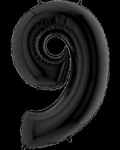 9 Black Folienzahlen 26in/66cm