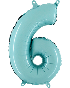 6 Pastel Blue Folienzahlen 26in/66cm