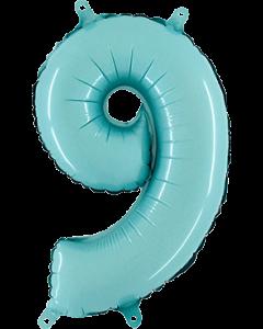 9 Pastel Blue Folienzahlen 26in/66cm
