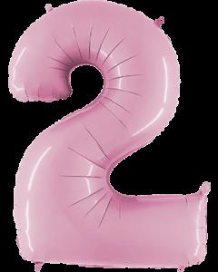 2 Pastel Pink Folienzahlen 26in/66cm