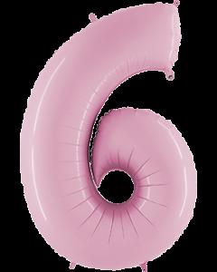 6 Pastel Pink Folienzahlen 26in/66cm