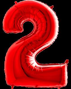 2 Red Folienzahlen 26in/66cm