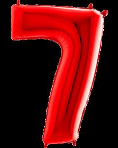 7 Red Folienzahlen 26in/66cm
