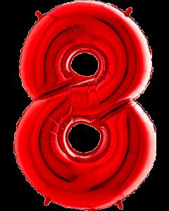 8 Red Folienzahlen 26in/66cm