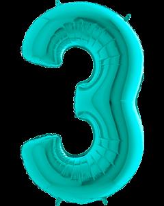 3 Tiffany Folienzahlen 26in/66cm