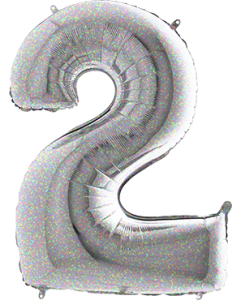 2 Holographic Folienzahlen 26in/66cm